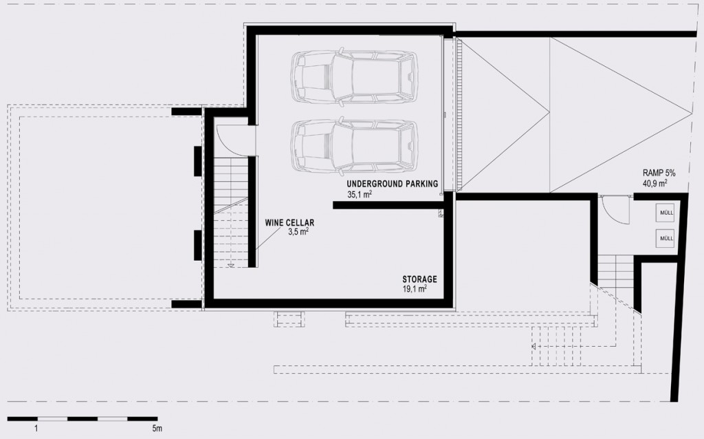 Loft house living underground parking - Loft houses with underground garage ...